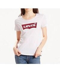 Dámské tričko LEVI S 17369-0053 THE PERFECT TEE - Batwing White Graphic Bílá 2e321082cf