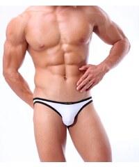 BRAVE PERSON pánské bílé bokové slipy i plavky současně Swim s černým  lemováním 074386e1eb