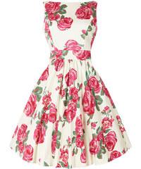Vanilkové retro šaty s růžemi Lady V London Tea 05eb037fe6
