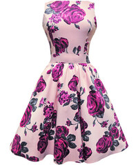 Růžové šaty s fialovými květy Lady V London Tea 4f50d83404