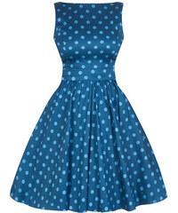 Modré šaty s puntíky Lady V London Tea 2489187bb0