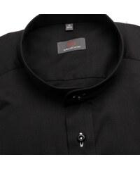Willsoor Pánská košile Slim Fit (výška 176-182) 5781 v černé barvě de06f830f5