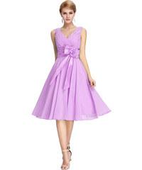 GRACE KARIN Krátké koktejlové šaty fialová 8640a0ba56