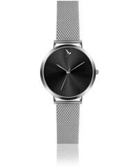 d82fddaa228 Dámské hodinky s páskem z nerezové oceli ve stříbrné barvě Emily Westwood  Black