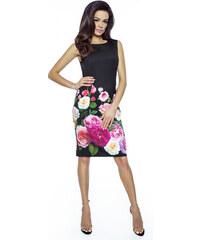 KarteS Čierne púzdrové elegantné šaty RUŽA KM221 eb06e68ec25