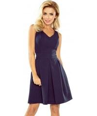 d1164050ae8 Elegantní dámské šaty bez rukávu tmavě modré NUMOCO 160-2
