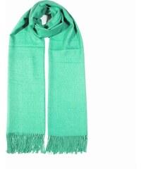 Y-wu COXES - jednobarevná šála zelená unisex 250g - 210cm 70cm cf3aaae6c8
