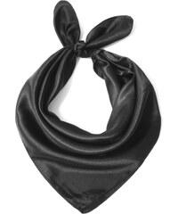 Y-wu Čtvercový šátek na krk černý 57cm   57cm