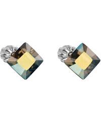 EVOLUTION GROUP Strieborné náušnice kôstka s krištáľmi Swarovski zelený  štvorec 31065.3 3c54aa75e6c