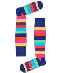 Pestrobarevné pruhované kompresní podkolenky Happy Socks fa568fc852