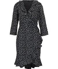 0fb25afab71 Černé vzorované zavinovací šaty s volány VERO MODA Henna
