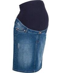 2d0e8617b19a bonprix Těhotenská džínová sukně ze super streče