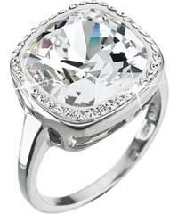 EVOLUTION GROUP Strieborný prsteň s kryštálmi Swarovski biely 35037.1  krystal 74958e59f3b