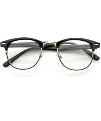 Sunmania číre okuliare Clubmaster 112 čierne 962ce142ab1