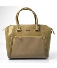 Elegantná kufríková menšia hnedá taupe kabelka do ruky Sicil David Jones f0394d09133