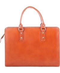 f4330dd835 Kožená mahagonovo hnedá kabelka do ruky Dolly VERA PELLE