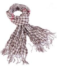Princess Kostkovaný šátek Lott hnědý D7 21c8125852