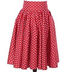 ddc711ff464 Afrodit Retro dámská sukně Red červený puntík