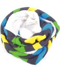 Princess Anita hřejivý zimní šátek G5 modrá ae8a9c9ace
