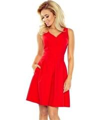 NUMOCO 35-3 dámské šaty šifónové červené - Glami.cz 32d28c7610