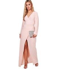 1c944a20289b BOOHOO Wrap maxi šaty Lacey