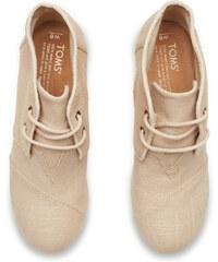 50906f1bec3e Béžové dámské boty na klínku TOMS