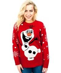 Kono Vánoční svetr unisex s Olafem červený 2fb19e6dde