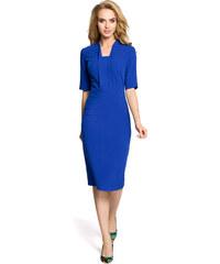 46ee003e1f2 Dámské elegantní šaty MOE M310 modré