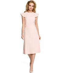 Dámské elegantní šaty MOE M311 pudrové e27c6c14bf