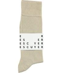 c8d81874592 ESCUYER Ponožky Casual Color Beige
