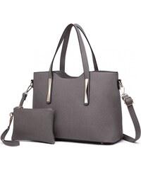 88aa516180 Lulu Bags (Anglie) Praktický dámsky kabelkový set 2v1 Miss Lulu sivá