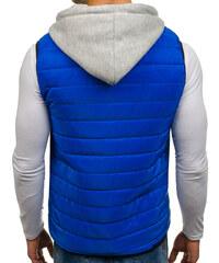 Modrá pánska vesta s kapucňou BOLF AK90 51524ff2b09