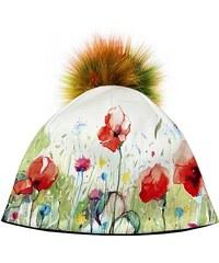 fe854fe54 Bertoni Dizajnová dámska čiapka s veľkým brmbolcom- jarná louka