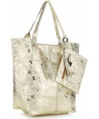 Genuine Leather Kožené kabelky Shopper bag Lakované zlatá 10bf25b5f33