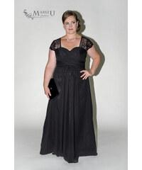 40ac6047bc1c Marizu fashion elegantní černé šifonové plesové šaty s krajkou pro moletky