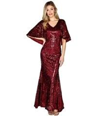 8e0692a313c LITTLE MISTRESS Červené maxi šaty s flitry