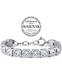 SILVEGO náramek BROOKLYN z chirurgické oceli se Swarovski Crystals DGB268 1cc481ee554