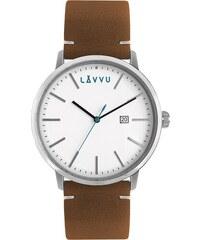 53561ec48c3 Hnědé pánské hodinky LAVVU COPENHAGEN STREETS s koženým páskem LWM0030