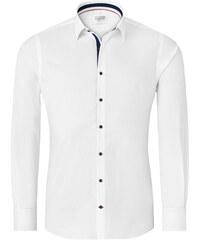 Vincenzo Boretti Bílá pánská košile - tmavě modré doplňky 376f642253