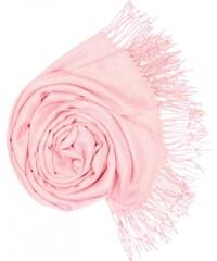 Carlo Romani Dámská Pašmína jemně růžová P8 8f03b3a0e3