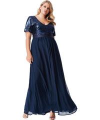 6334e0938da Bellazu CG Dlouhé plesové šaty Laura tmavě modré