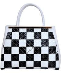 Luxusní kožená kabelka Gilda Tonelli 7380 ST černá   bílá eea7d2f20d3