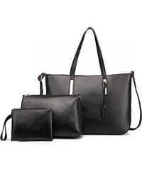 Lulu Bags Černá luxusní moderní dámská 3v1 kabelka Luxien 68481e65fbf