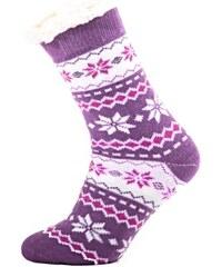 e66dab3da21 Afrodit Zimní ponožky Snow s norským vzorem světle fialové 35-38