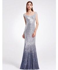 Ever-Pretty Stříbrné jiskřící šaty se spadlými rameny ccfb6cb3de8