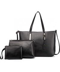 1b90f25ea4 Černá luxusní moderní dámská 3v1 kabelka Luxien