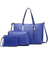 Modrá luxusní moderní dámská 3v1 kabelka Luxien 587f2a3efd7