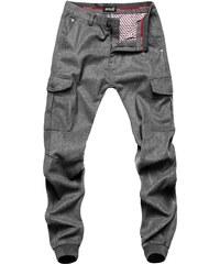 OZONEE Xzx-Star 8736 Pánské Kalhoty Šedé 5a98c47f70