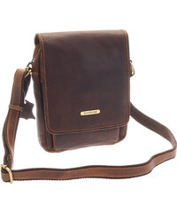 6ef44bfe1b SendiDesign Hnedá luxusná kožená pánska taška - Sendi Design Heliodoros  hnedá