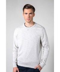 f3af8181672b Sivý pánsky sveter s prímesou hodvábu Tommy Hilfiger Stripe - Glami.sk